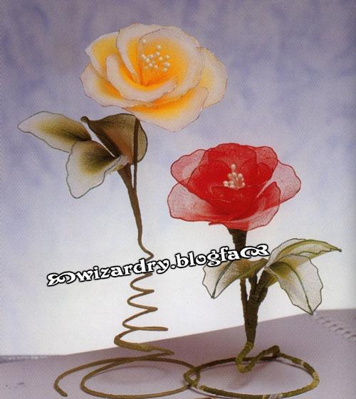 Цветок из проволоки своими руками